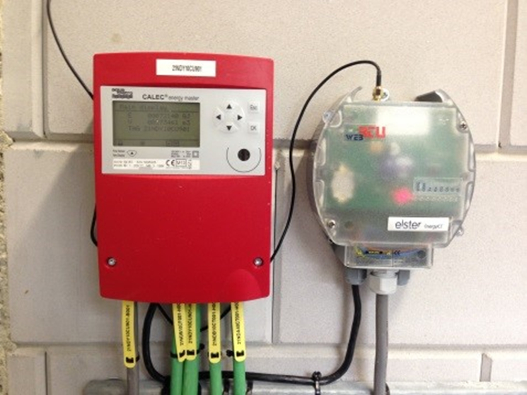 Photograph of a compatible flow meters mounted on the wall.