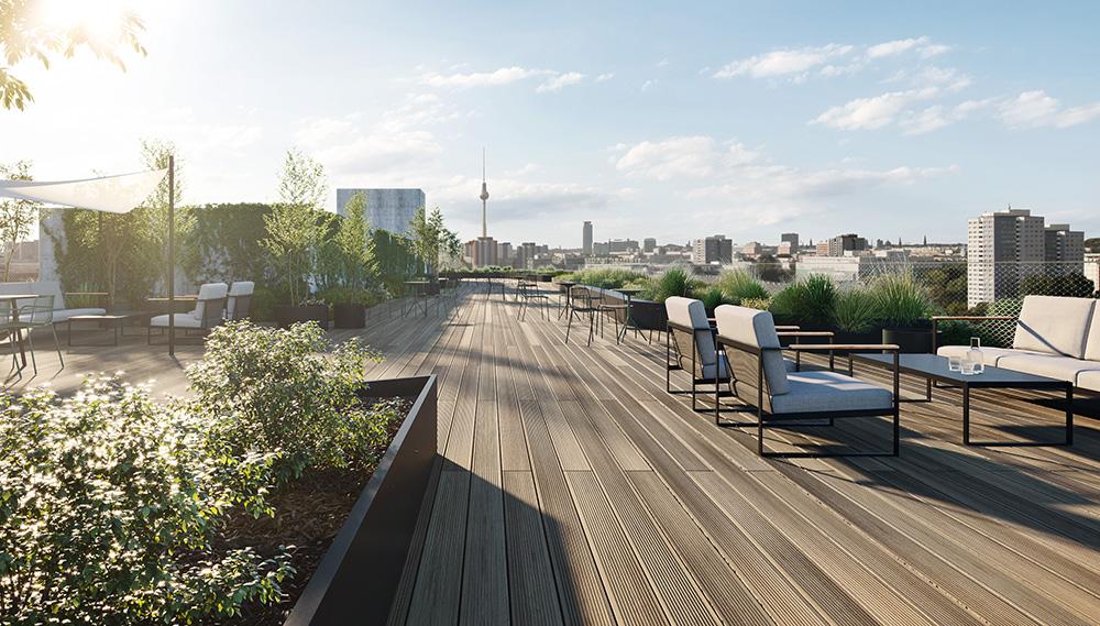 Berlin Postbanhof roof terrace