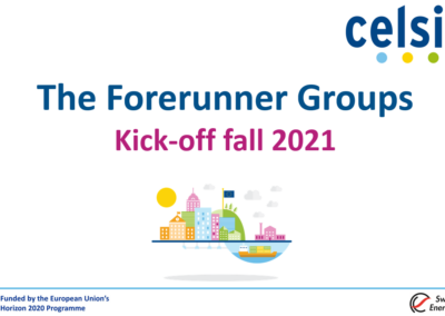 Webinar: The kick-off of the fall 2021 edition of the Celsius Forerunner Groups